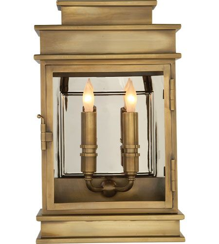 Visual Comfort Chart House Short Linear Lantern in Antique-Burnished Brass CHO2908AB photo