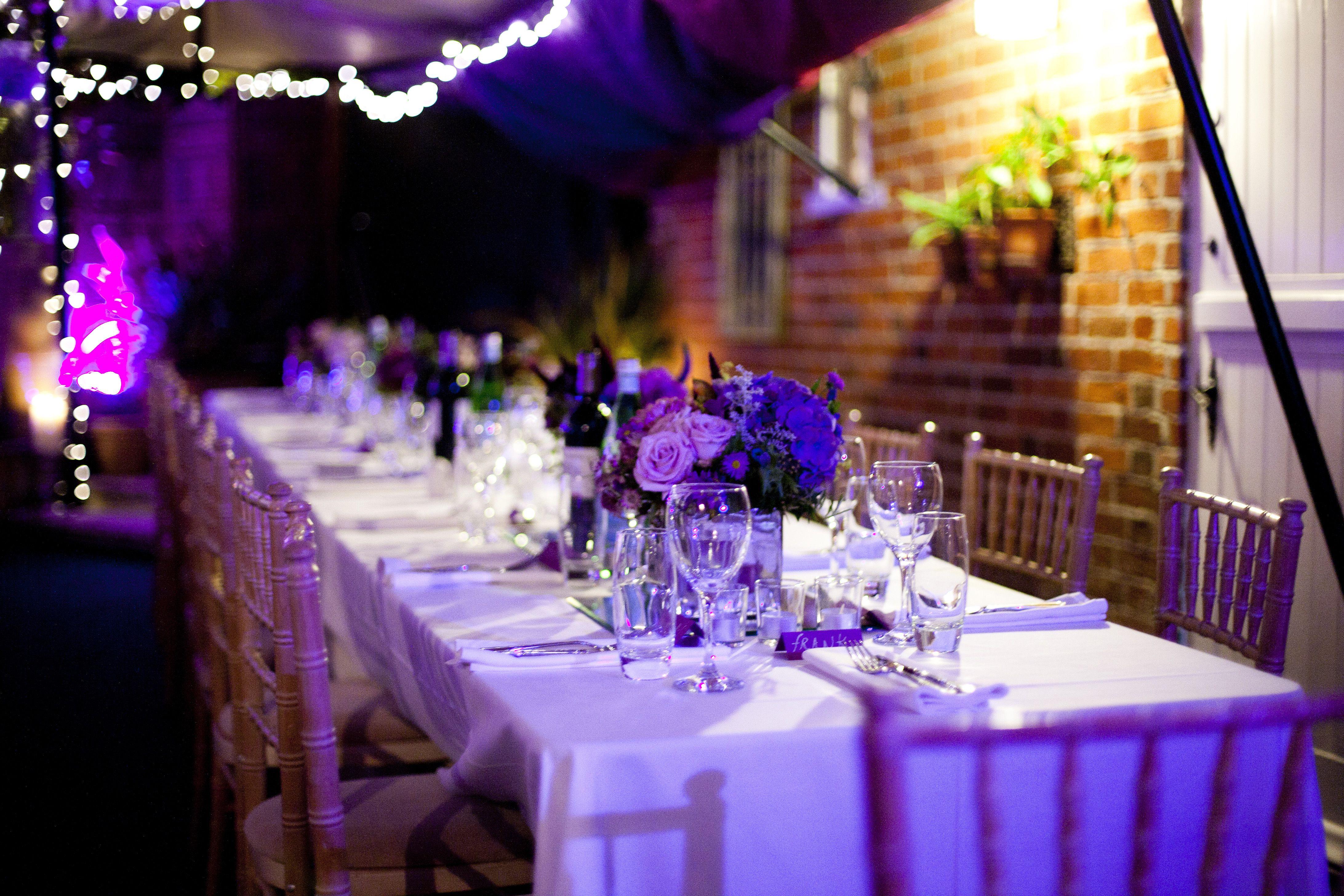 Wedding Reception In An Arabian Stretch Tent Ultraviolet