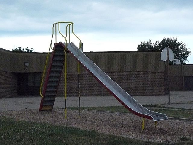 Image result for playground sliding board 1950s