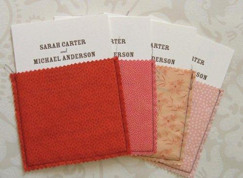 Fabric pouch invitations