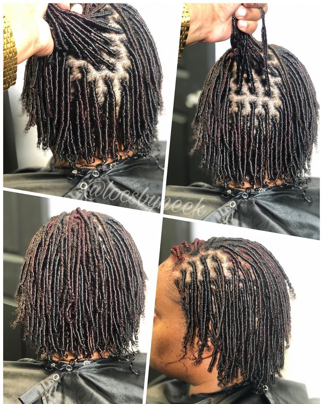 Ms Neek On Instagram Small Starter Locs Comb Coils Book Your Next Appointment With Neek Providing Qua Locs Hairstyles Hair Styles Short Locs Hairstyles