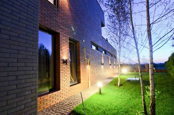 Lovely Apartments, Home Construction Lighting Lamp Storey Home Brick Wall  Courtyard Plant Park Garden Luxury Exterior Gallery