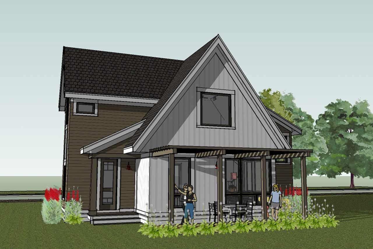 Scandanavian cottage plans cabin scandinavian the scandia modern cottage house plan comes with