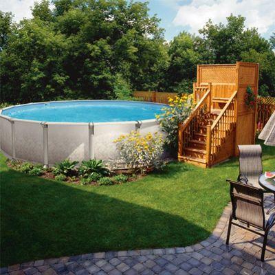Une piscine hors terre qui a du style! Terrassement piscine hors - amenagement autour piscine hors sol