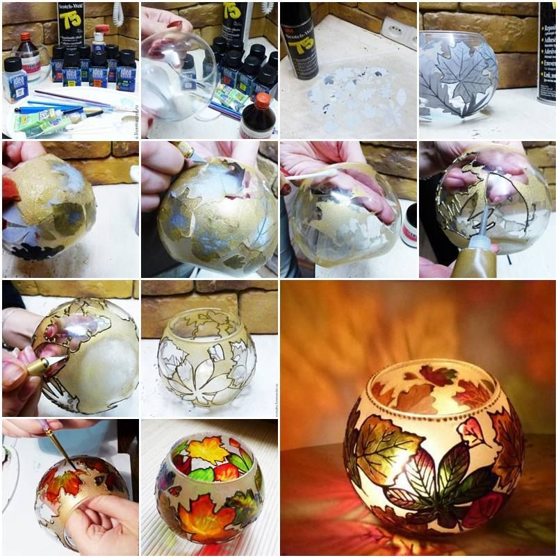 How to make autumn gold painted candle holder step by step diy the most savored diy projects and crafts in the world how to make autumn gold painted candle holder step by step diy tutorial instructions solutioingenieria Choice Image