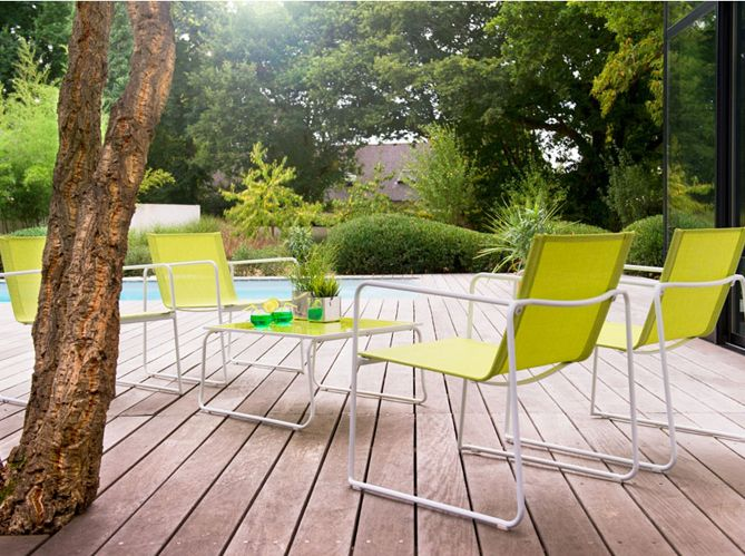 piscine #salon #jardin #vert #parquet #bois #arbres Terrasse