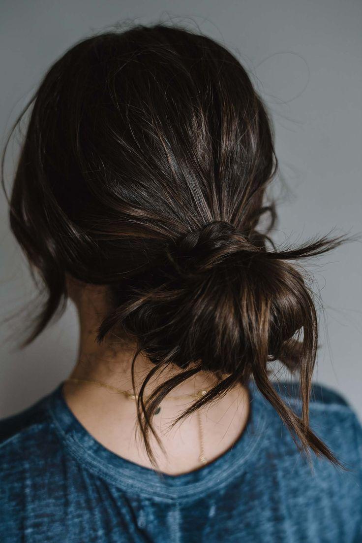 Keine Wärme-Frisur – geflochtenes, unordentliches Brötchen – #Frisur #Haar #Tutorial My Style Vita …