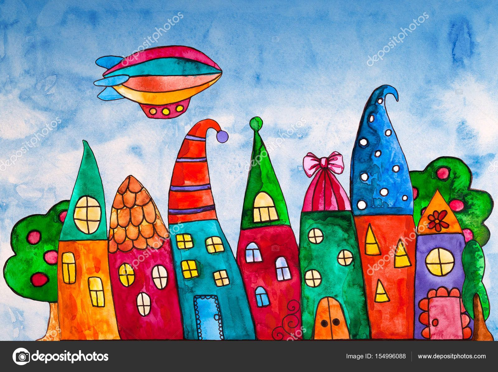 Resultado De Imagen Para Dibujos Casas Colores Casas Dibujo De