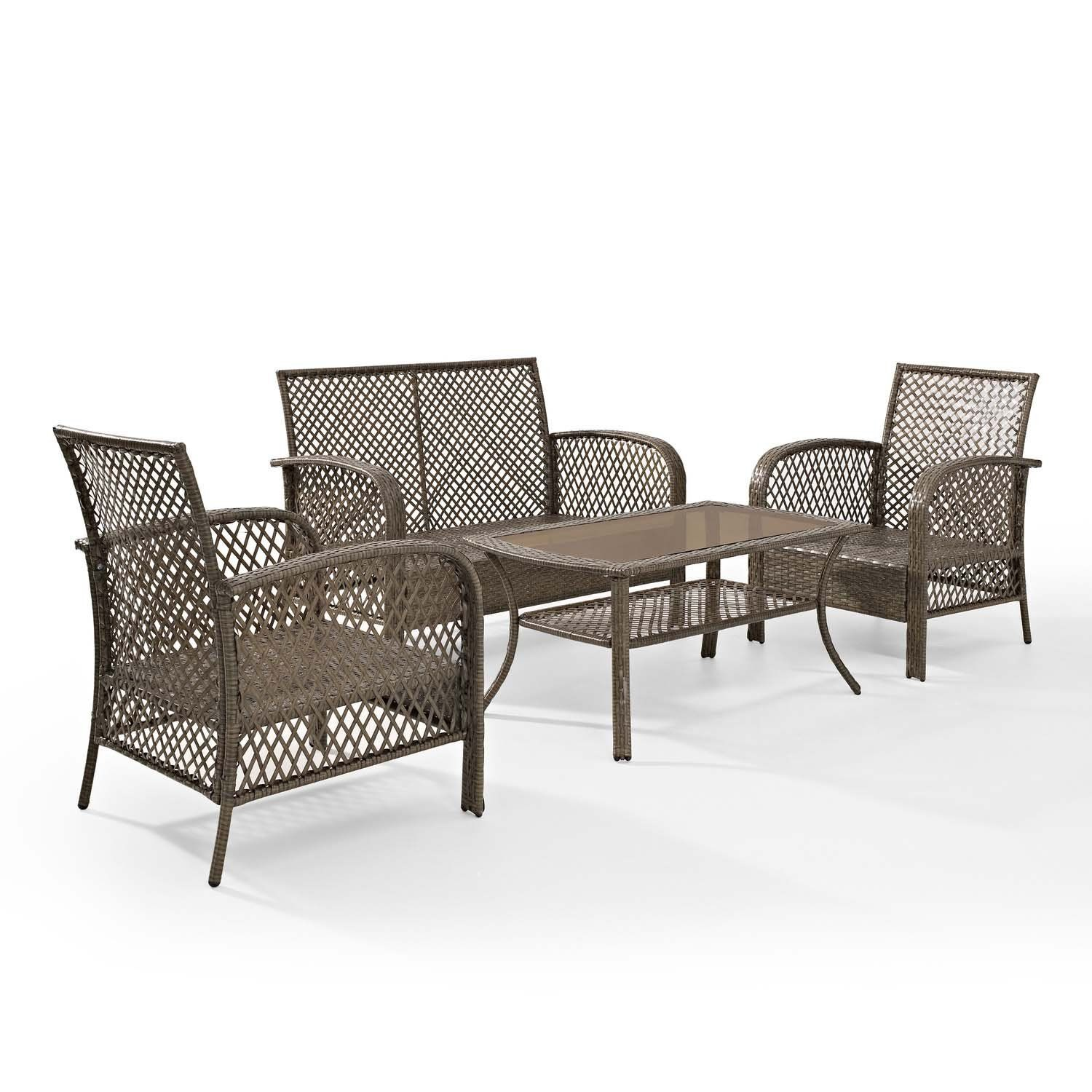Tribeca 4 Piece Deep Seating Group Outdoor Patio