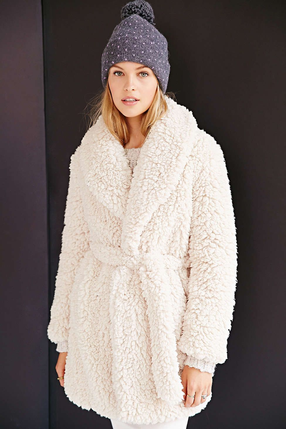 1a53d7ed66 Pins And Needles Sherpa Furry Robe Coat Check out the post about robe coats  this season at www.convenientlychic.com