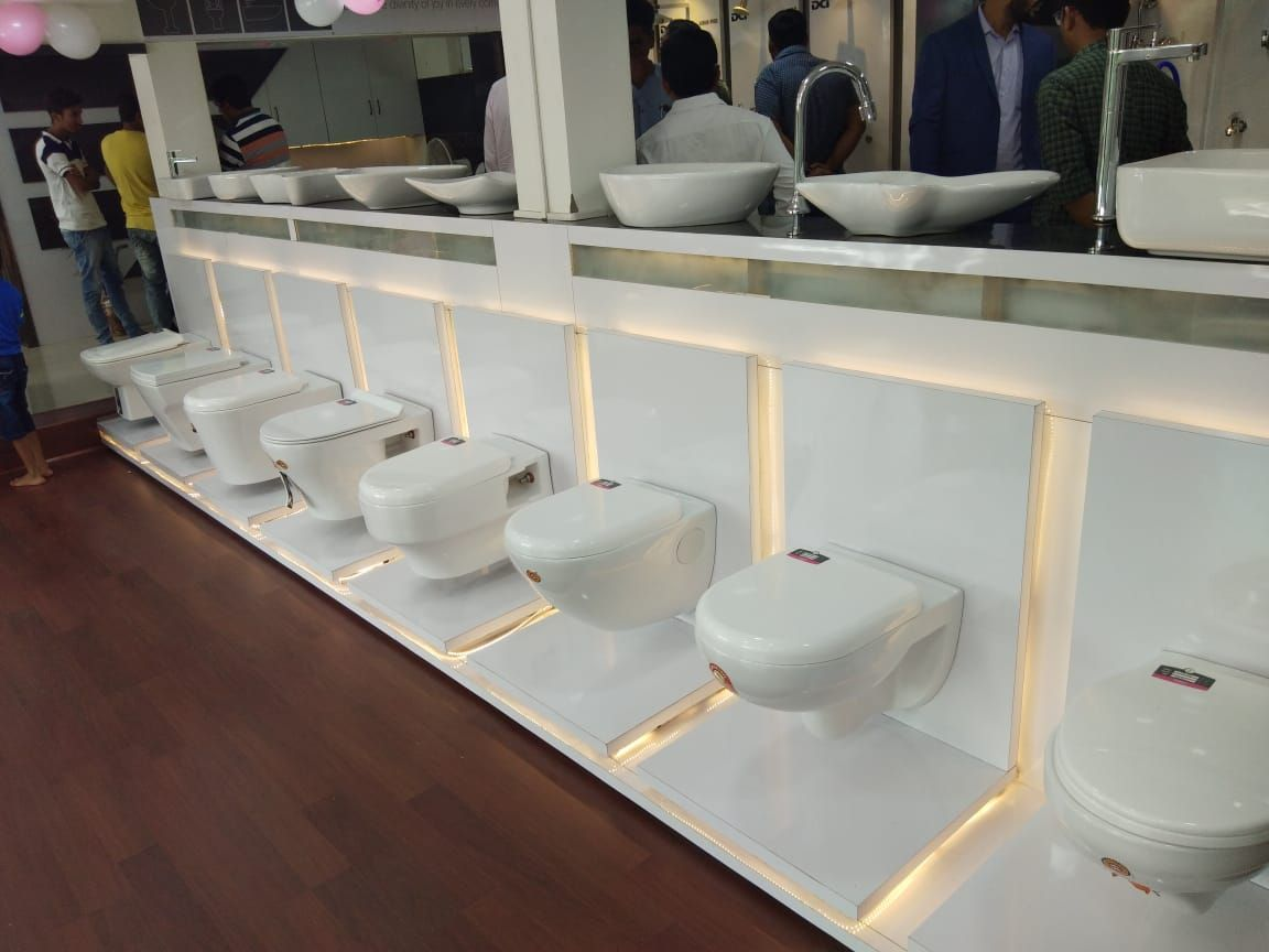 Varmora Continues To Display Its Dominance In Gujarat With The Opening Of Its 130th Sanitary Ware Store Showroom Interior Design Showroom Design Shop Interiors