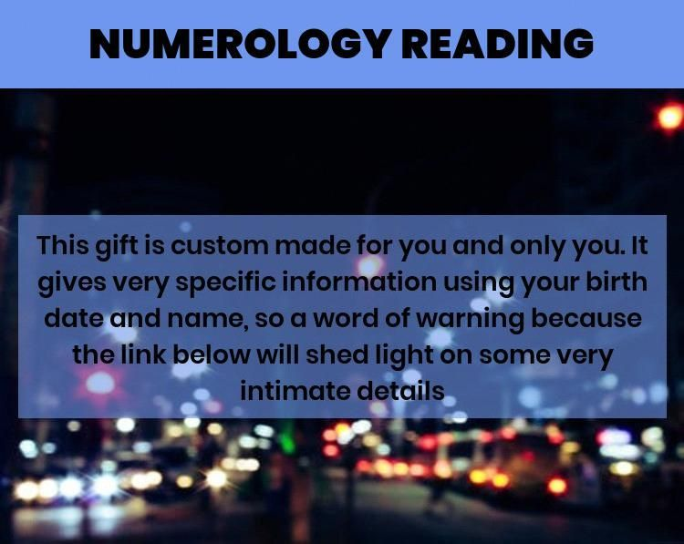 Numerology report name and birthday… :) I was skeptical ...