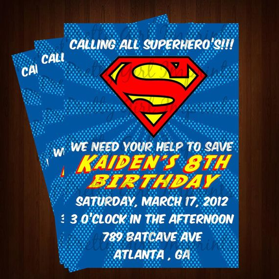 Best 25 Superman Invitations Ideas On Pinterest