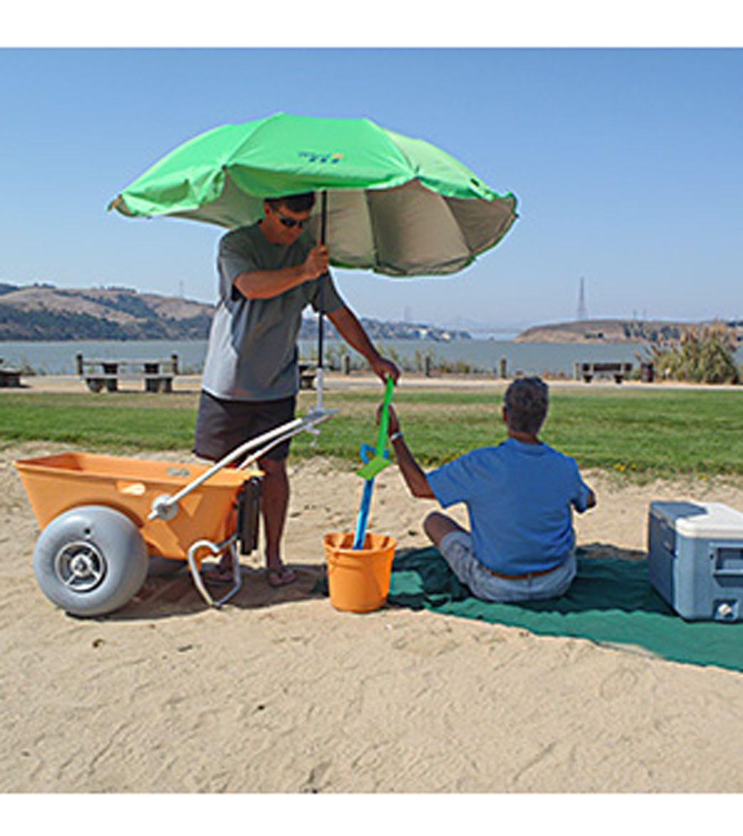 Wheeleez Inc Beach Umbrella Beach cart, Beach umbrella