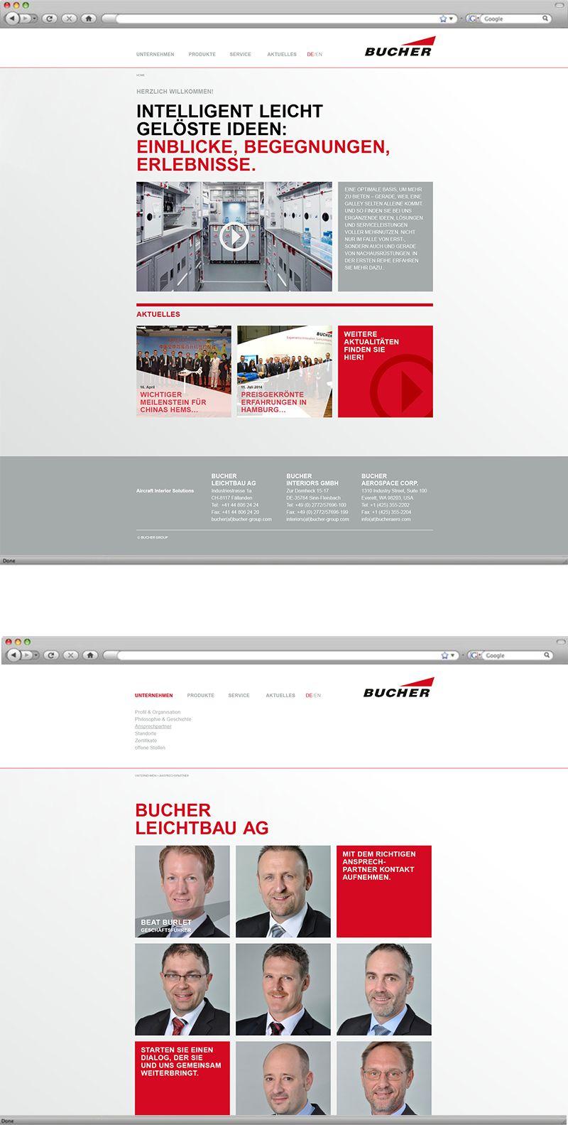 Kunde: Bucher Leichtbau Fällanden | Branche: Industrie | Werbemittel: Website Designentwurf | Erscheinung: einmalig | Umfang: Standard / BBGmarconex AG