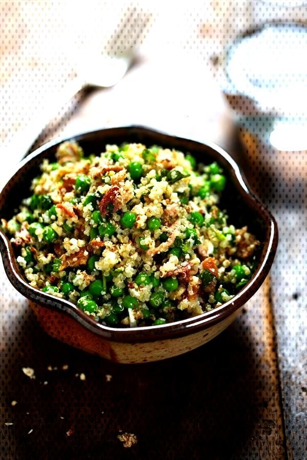 Spring Quinoa Salad with Honey Lemon Vinaigrette - Pinch of Yum -You can find Vinaigrette and more