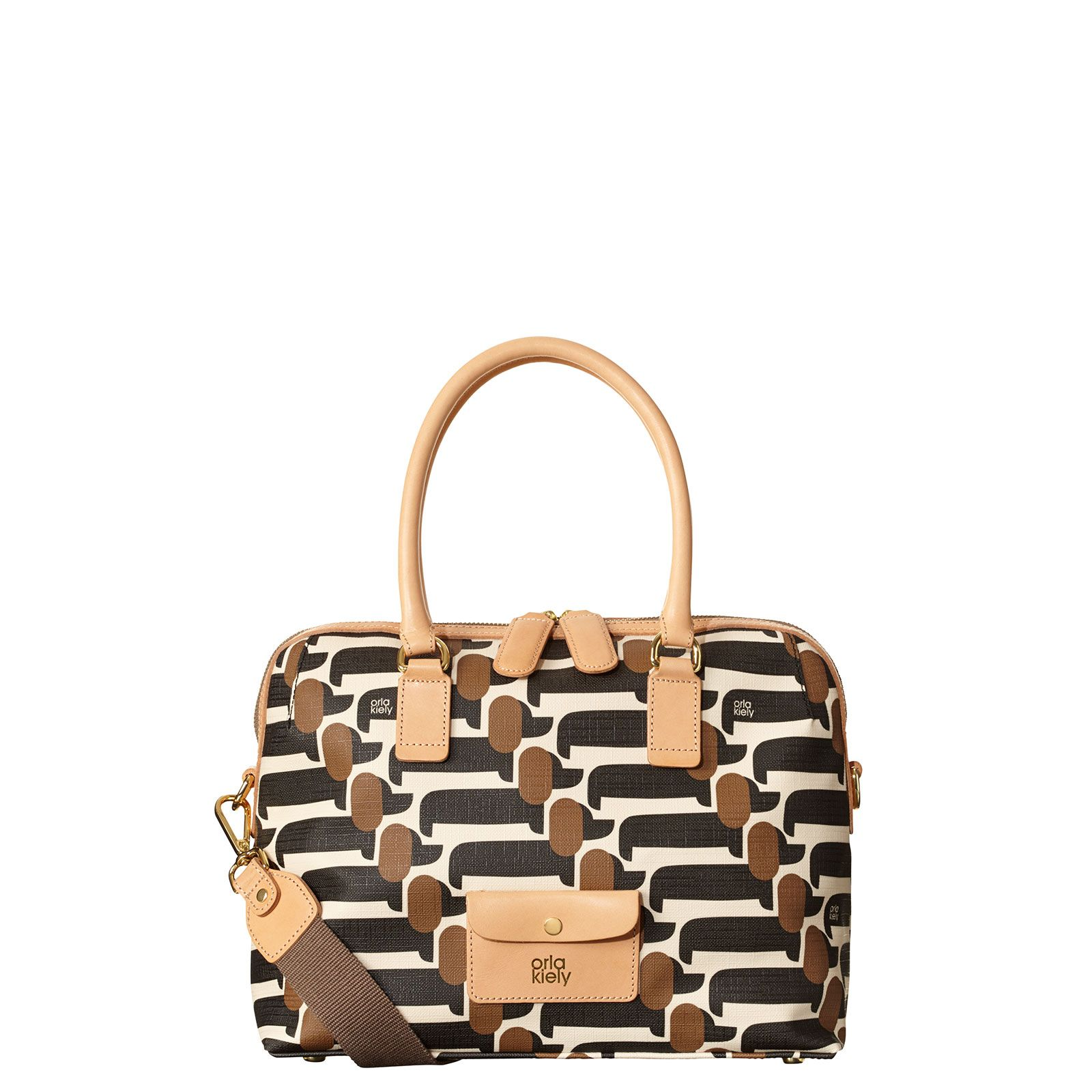 Orla Kiely Textured Vinyl Ella Bag In Dog Show Print