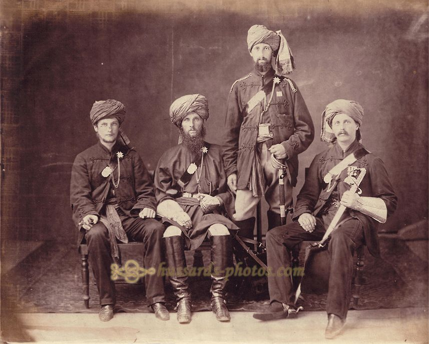 Officers Of The 1st Sikh Irregular Cavalry Probyn S Horse