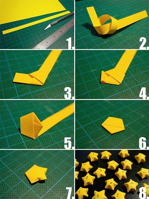 DIY Folded Lucky Paper Star #diy #crafts