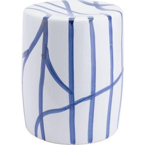 Miraculous 14 Modern Round Seat White Blue Zm Home White Blue Creativecarmelina Interior Chair Design Creativecarmelinacom