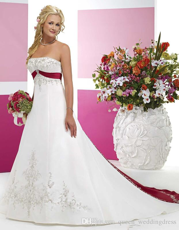 White And Red Wedding Dresses 2017 Strapless Bridal Gowns With Beaded Embroidery Empire Strapless Cathedral A Line Wedding Dresses Chinese Wedding Dress Grecian Wedding Dress From Queen_weddingdress, $149.75| DHgate.Com #grecianweddingdresses White And Red Wedding Dresses 2017 Strapless Bridal Gowns With Beaded Embroidery Empire Strapless Cathedral A Line Wedding Dresses Chinese Wedding Dress Grecian Wedding Dress From Queen_weddingdress, $149.75| DHgate.Com #grecianweddingdresses