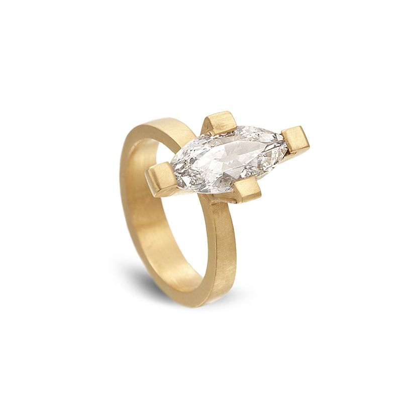 MARQUISE DIAMOND RING  22K gold with 1.84ctw marquise diamond
