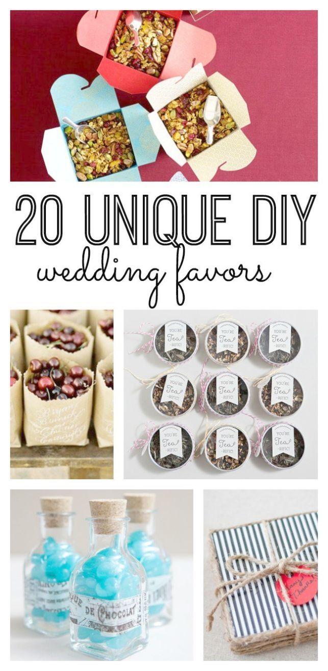 Wedding Favors Budget DIY Wedding Favors Edible  Wedding Favors