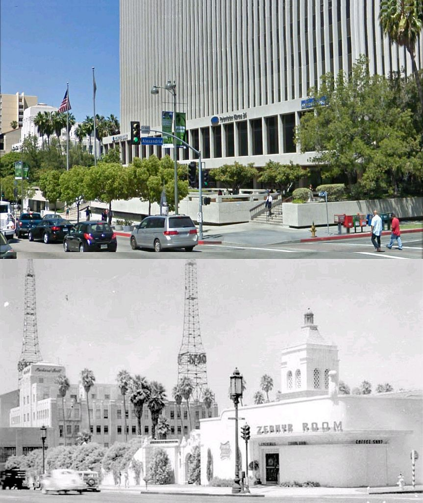 nw corner of alexandria avenue and wilshire boulevard 1947 and now | by gsjansen