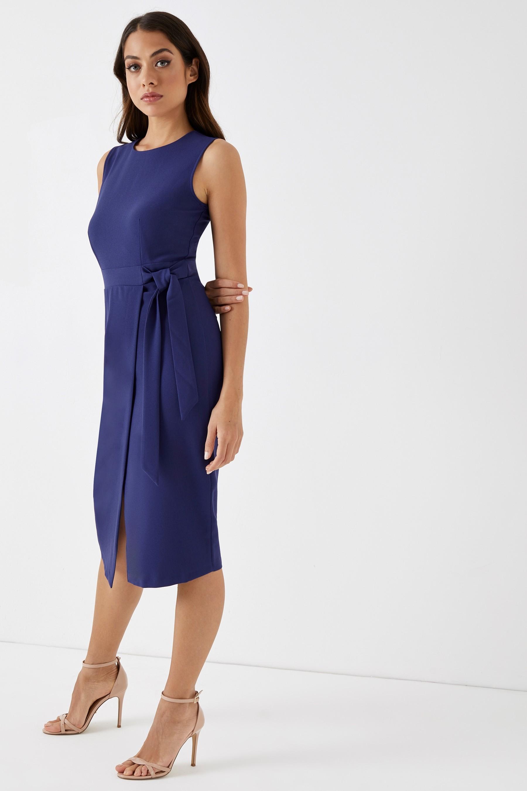 fda4a3b192 Womens Closet Tie V Back Pencil Dress - Blue in 2019   Products ...