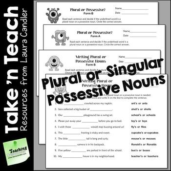 Pin On Pronouns Nouns Possessive nouns worksheets grade