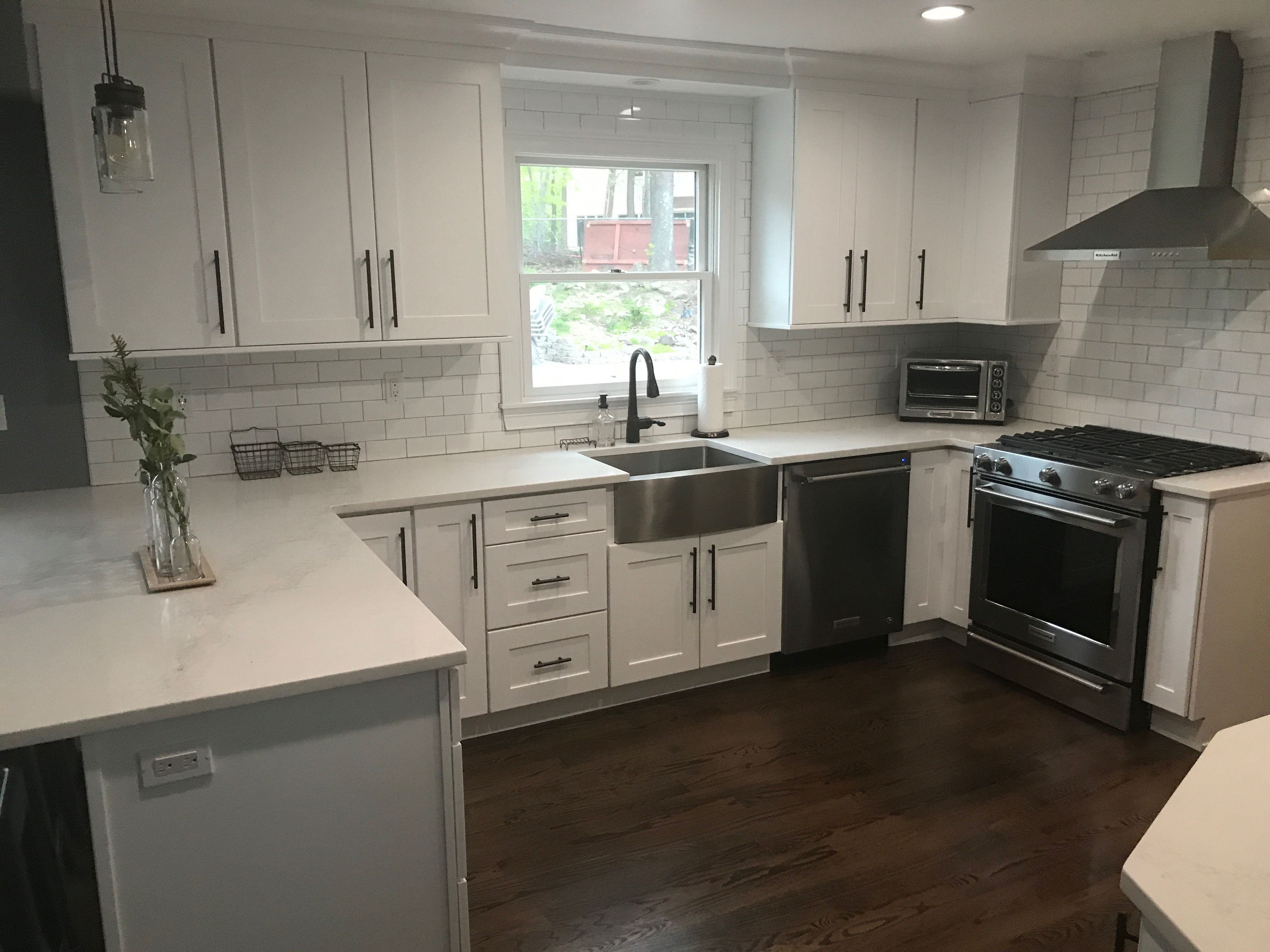 Stainless Steel Appliances And Farm Sink Oil Rubbed Bronze Hardware