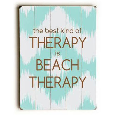Beach Therapy Wood Sign