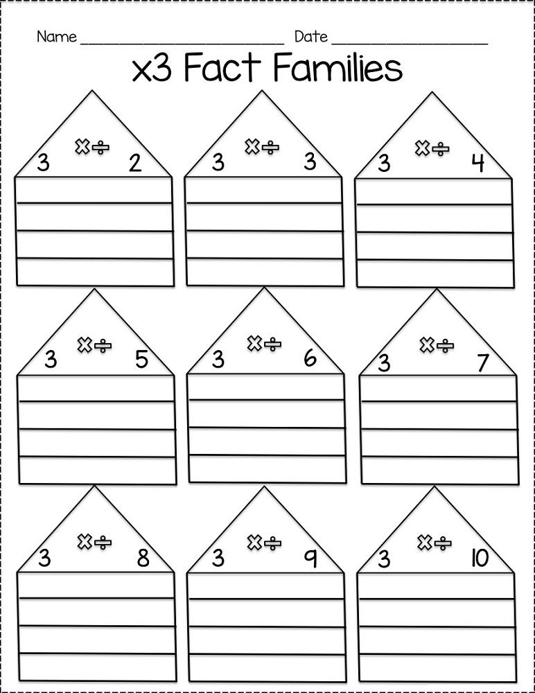 Fact Family Worksheets For First Grade Family Worksheet Fact Families Fact Family Worksheet