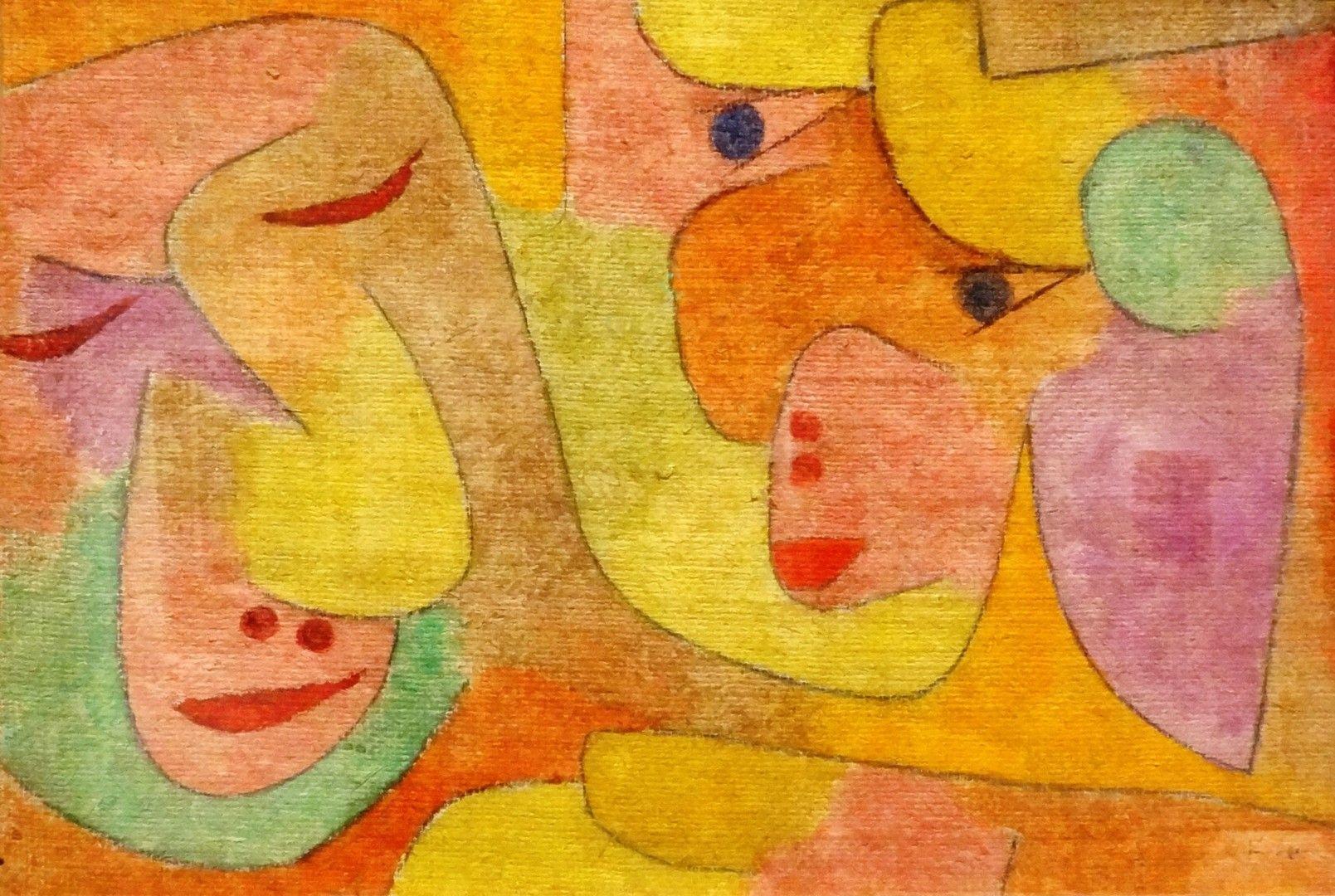 Paul Klee | Old Married Couple | 1931 | Tempera on burlap | 33.02 X 47.62 cm (13 X 18.75 in)