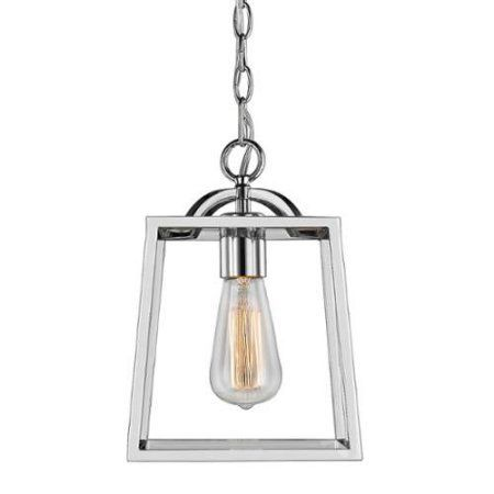 Golden Lighting 3074-1P Single Light 8 inch Wide Pendant From the Athena Collection, Silver