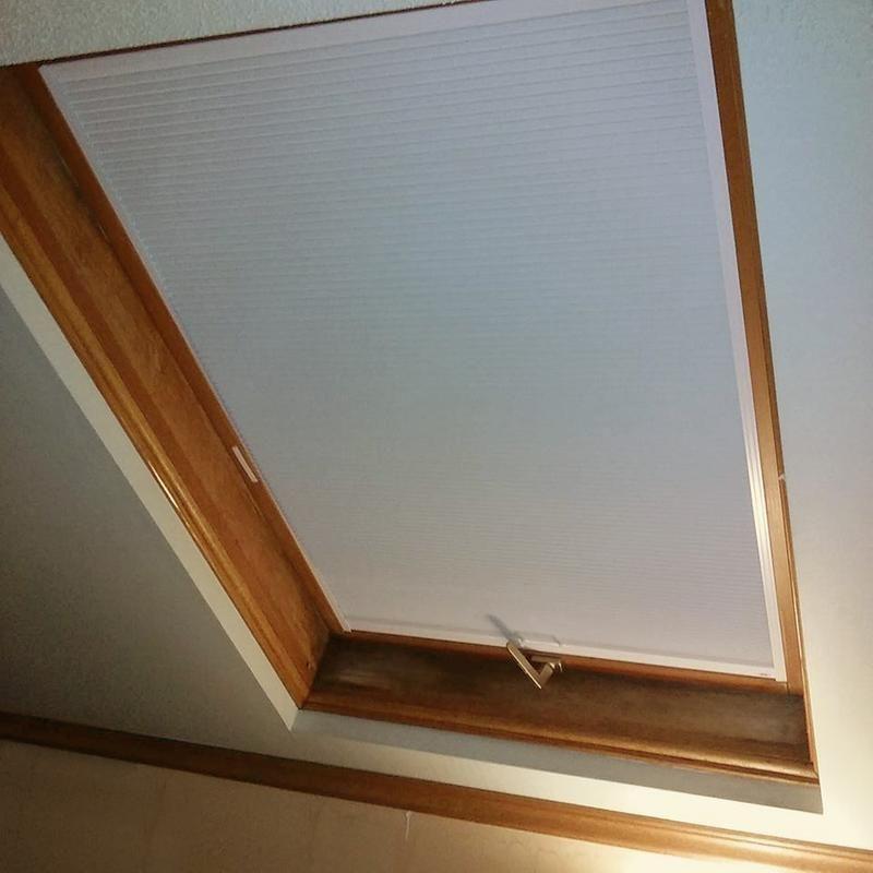 Blackout cellular skylight skylight shade shades blinds