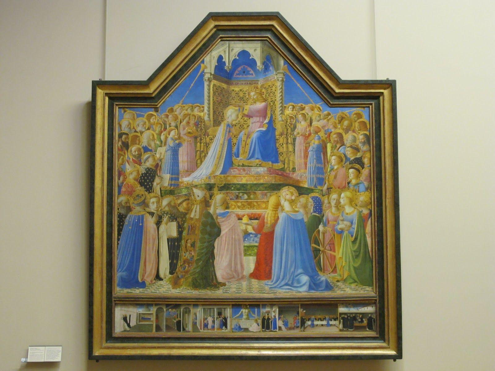 Guido di Pietro dit Fra Angelico (connu à Florence en 1417 - Rome, 1455), Le Couronnement de la Vierge, vers 1430-1432.