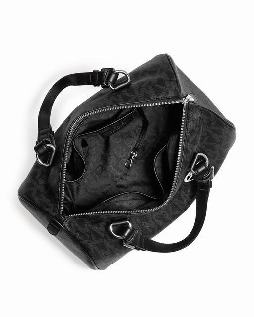 cbf96b0566df7 Michael Kors Große Grayson Logo Pvc Schulranzen Schwarz Online 0  bags  jewellery