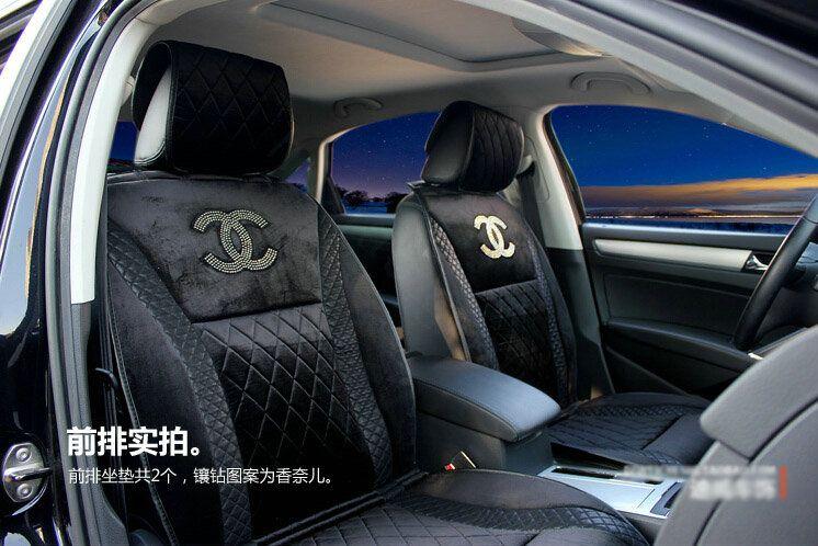 Girly Car Seat Covers: Buy Wholesale Luxury Chanel Universal Automobile Velvet