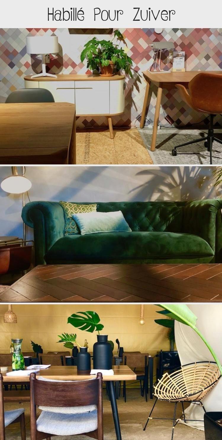 Zuiver Salon Hygge Mur Couleur Mint Vert De Gris Sol Beton Cire