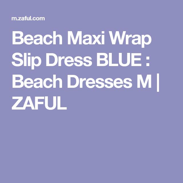 Beach Maxi Wrap Slip Dress BLUE : Beach Dresses M | ZAFUL