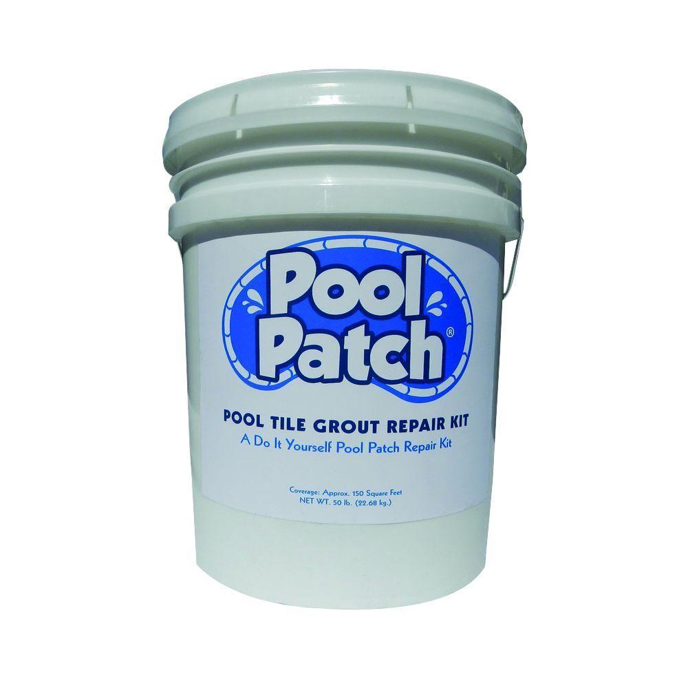 Pool Patch 50 lb. White Pool Tile Grout Repair Kit ...