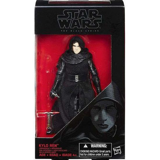 "Star Wars Black Series 6"" Kylo Ren Unmasked Figure by Hasbro"