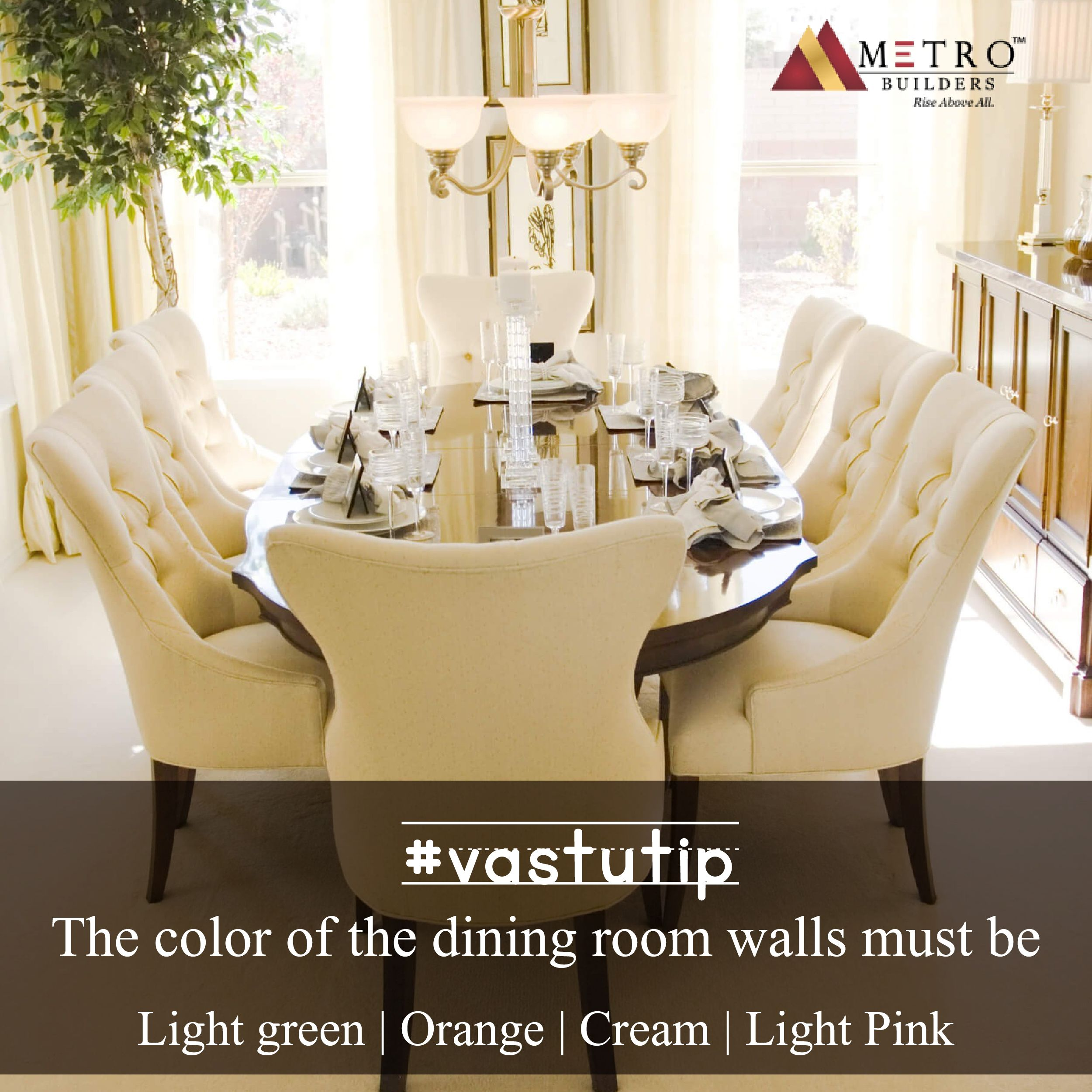 #Vastutip The Color Of The Dining Room Walls Must Be