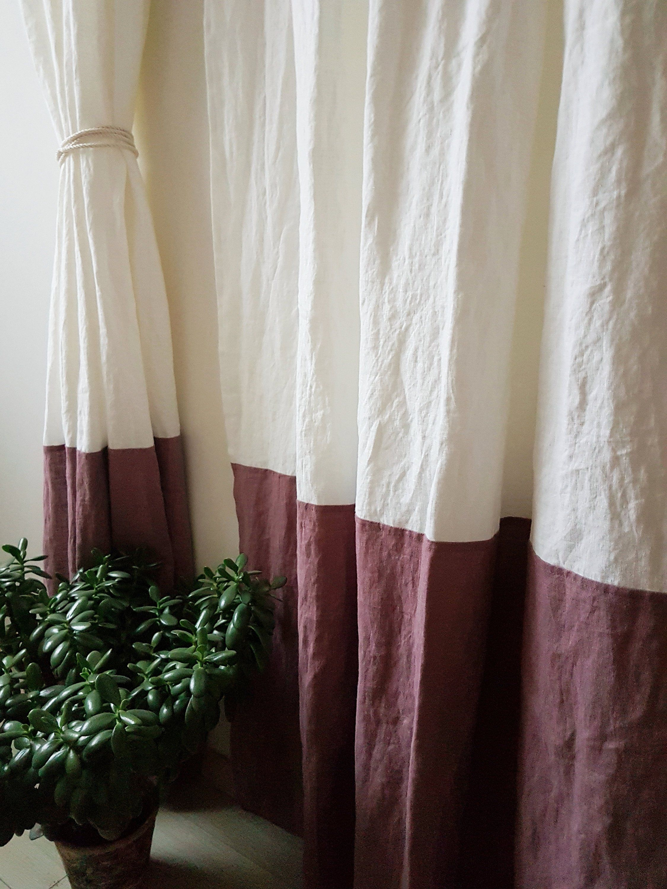 Linen Curtains In Two Colors Blackout