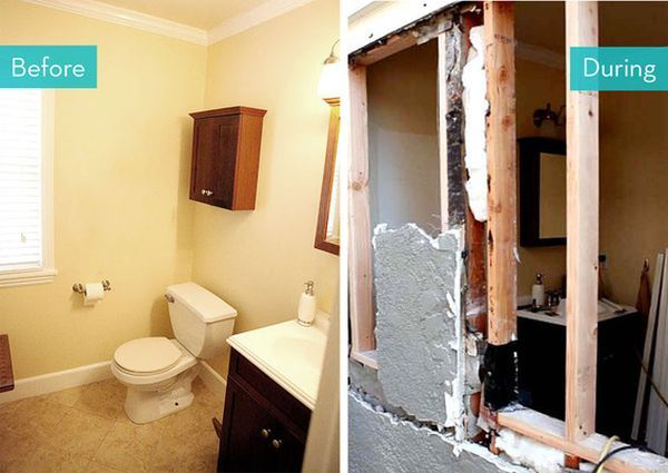 Before And After Small Bathroom Makeovers Big On Style Small