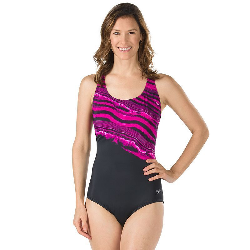 d74521e9e6e47 Women s Speedo Mineral Striped One-Piece Swimsuit