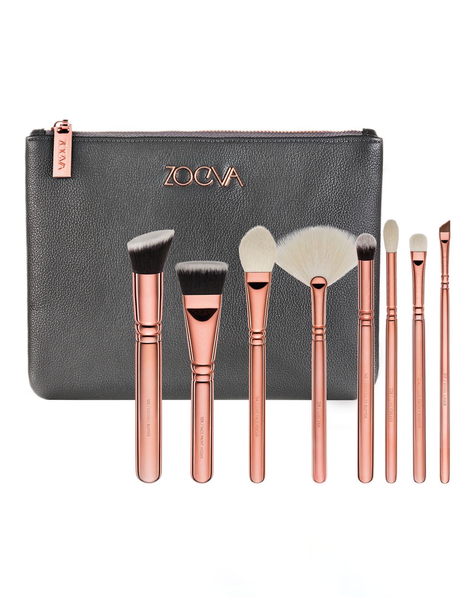 Rose Golden Luxury Brush Set Volume 3 by ZOEVA Rose