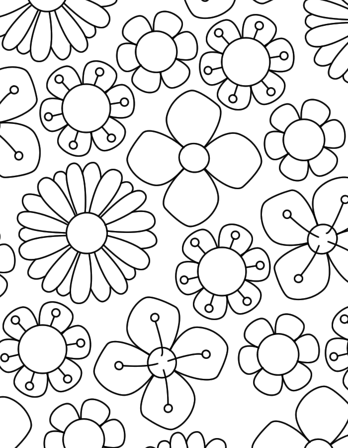 Kleurplaten Vlinders Uitprinten Bos Lente Bloemen Bloem Kleurplaten Bloemen Tekenen En