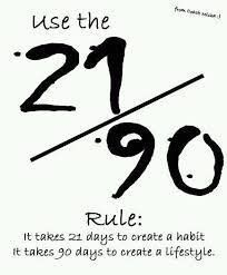 It Takes 21 Days To Create A Habit 90 Days To Create A Lifestyle Use The Formula Motivation Inspirational Quotes Fitness Motivation